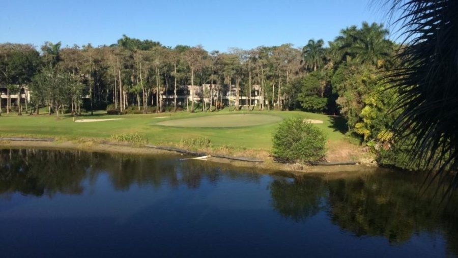 Captured is a Florida golf course that Senior Alan Showalter frequently plays on.