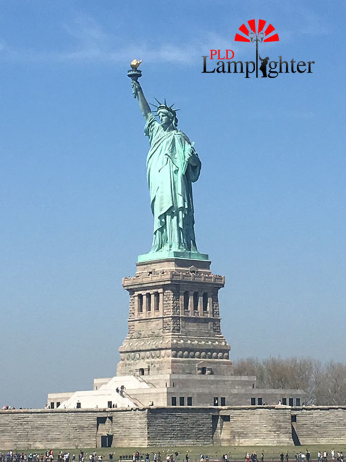 The Statue of Liberty was a tourist attraction visited by the group.