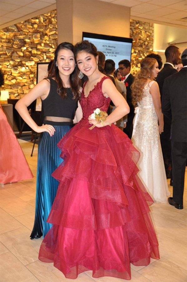 Yoon Cho and Kyoko Hamagata at prom.