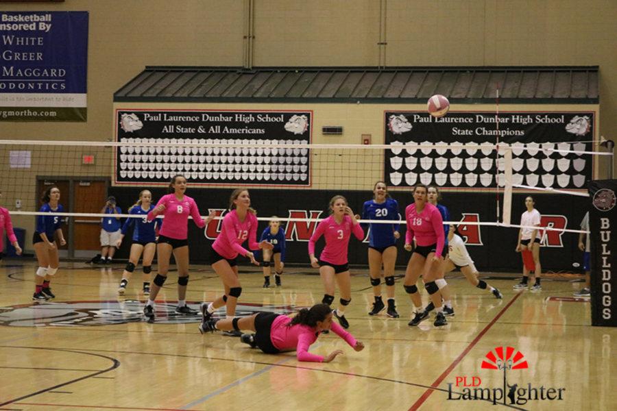 #11 Senior, Savannah Dudek hustles for the ball.