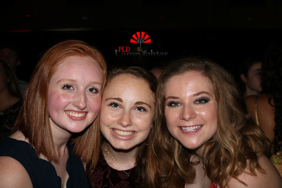 Seniors Lauren Hart, Remy Milburn, and Mackenzie McConnell give theyre best smile for the camera.