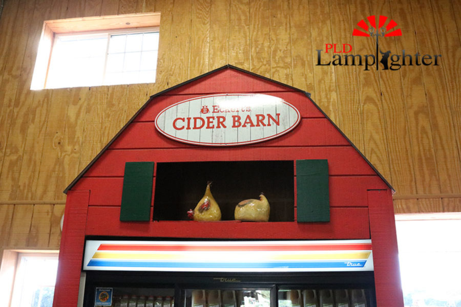 Etcerk's Cider Barn holds apple cider made to be sold to the customers.