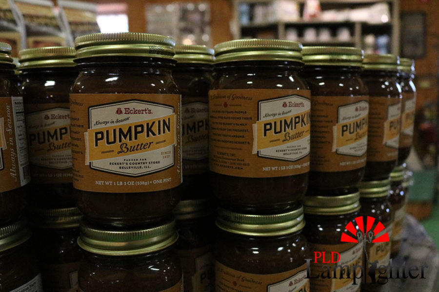 Homemade pumpkin butter for sell in the market.