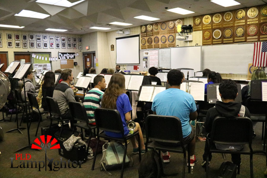 Dunbar Band is attentive in the classroom.