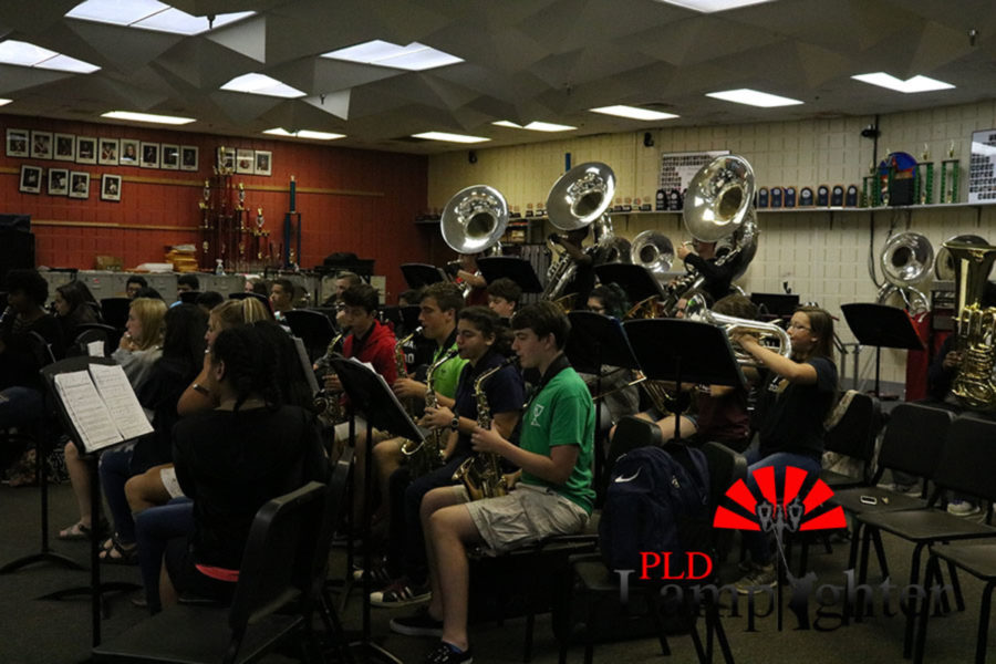 The woodwinds (first three rows) and the brass (last row).