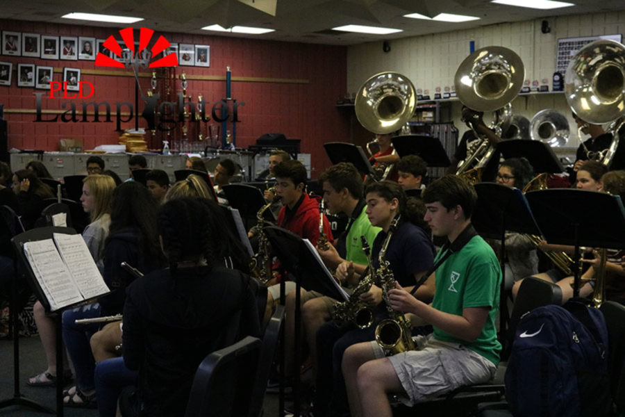 The students finishing their music.