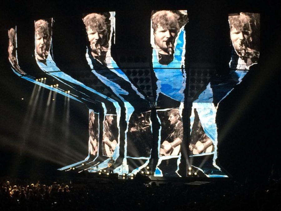 Ed+Sheeran+sings+%22Eraser%22+as+the+concert+begins.