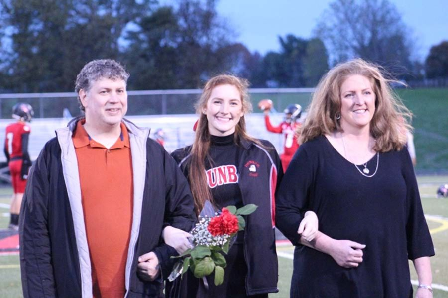Senior Cheerleader Miriam Ward and her family.