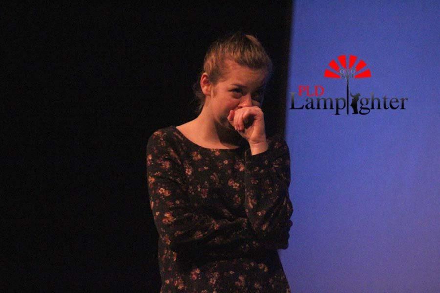 Sophomore Jaycee Castro displays emotion on stage.