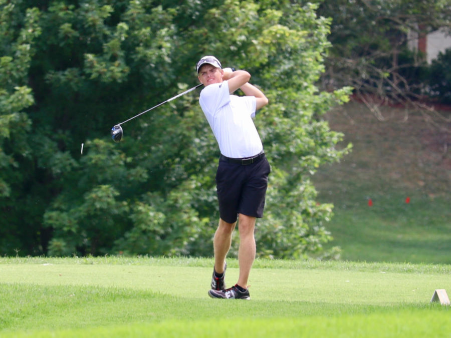 Three Dunbar students, including senior Ethan Hill, competed at the KHSAA Golf State Tournament.