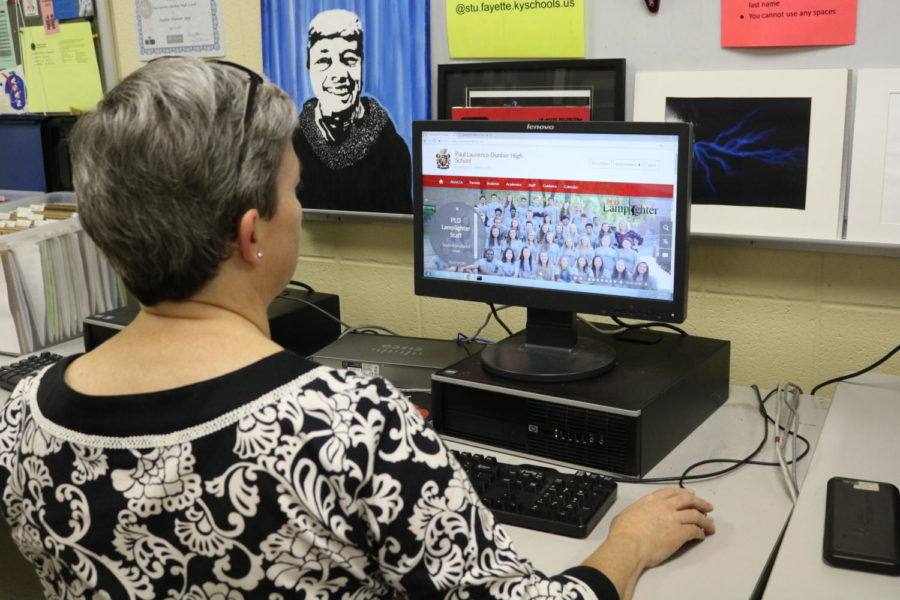 Mrs. Doring is the web master for Dunbar and was in charge of updating the school website.