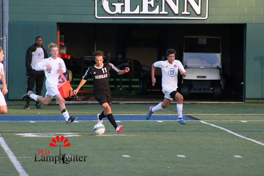 #11 Sullivan Curd Dribbling towards the goal.