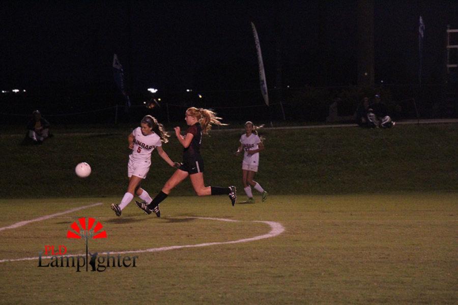 #5 Sophomore Alison O'Hara receives the ball.