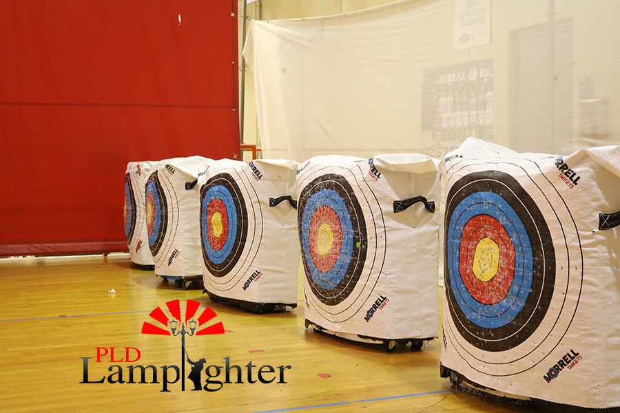 The colorful targets used by the Archery team.