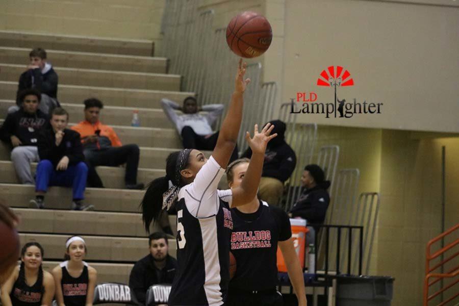 Freshman Tanaya Cecil puts up a shot.