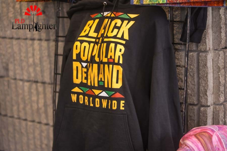 A hoodie with words