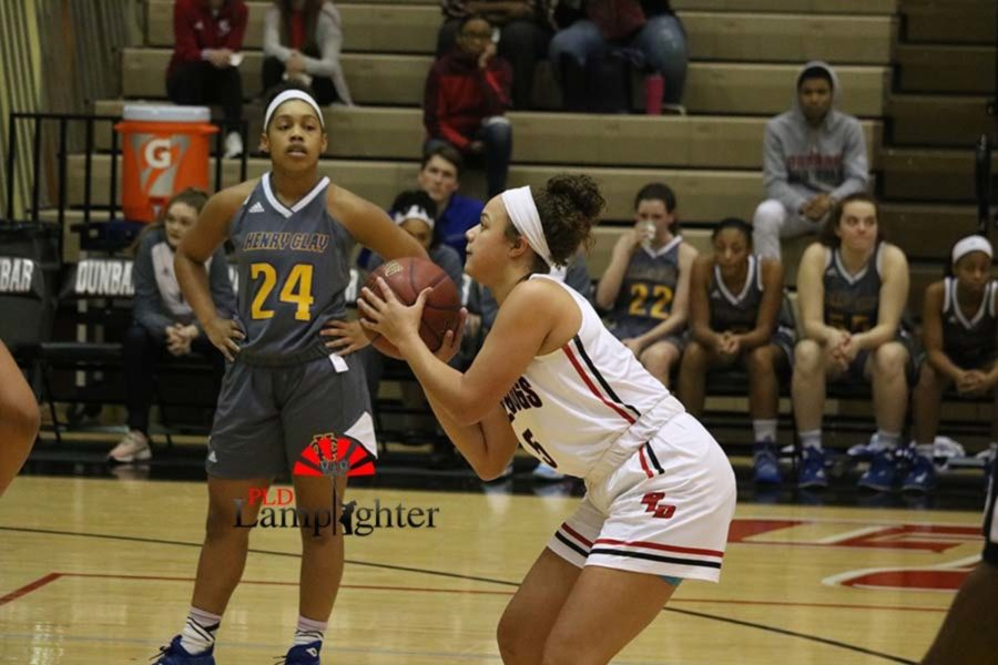#5 Elise Ellison-Coons shoots a free throw.