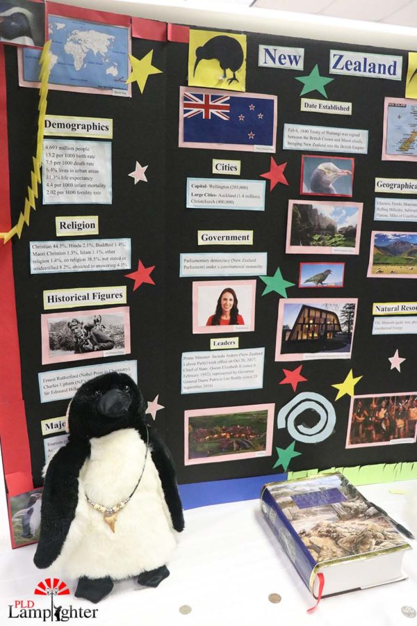 Such as New Zealand, each booth has much information about the country's origins and culture.