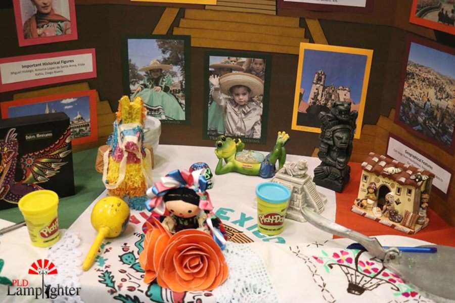 The Mexico's group's booth featured many artifacts to represent their culture.