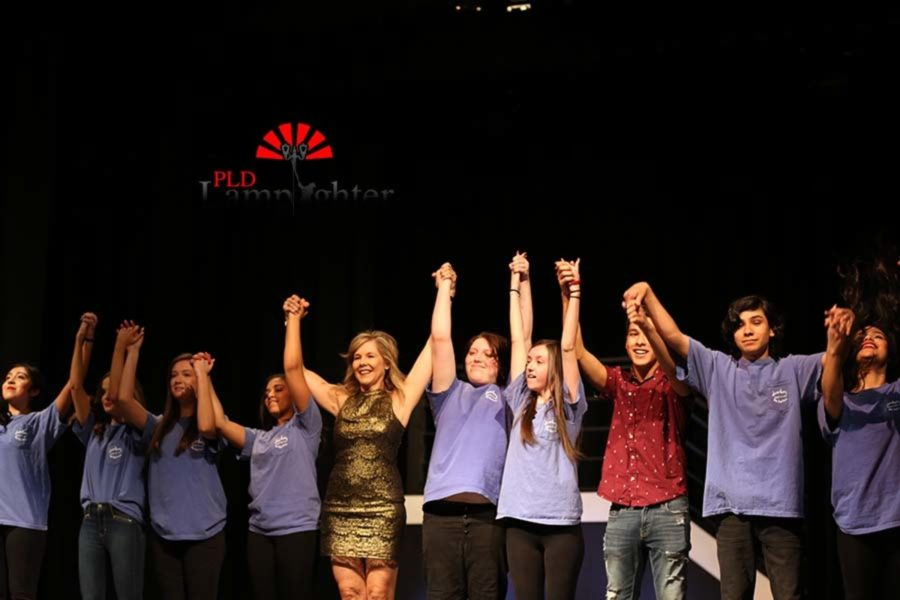 Mary Piper and her fashion class take a final bow at the end of the show.