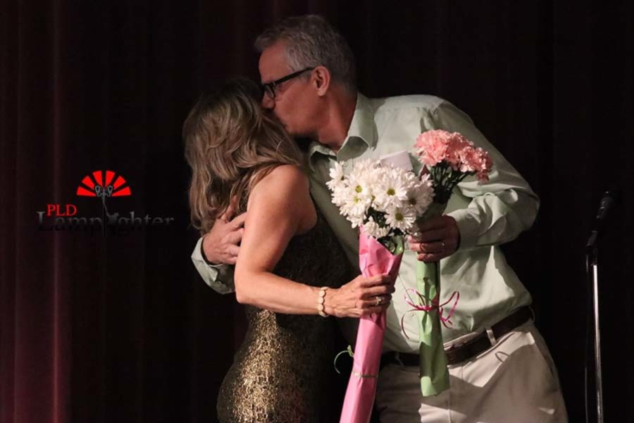 Jimmy Piper, husband of Mary Piper, delivers her flowers at the end of the show.