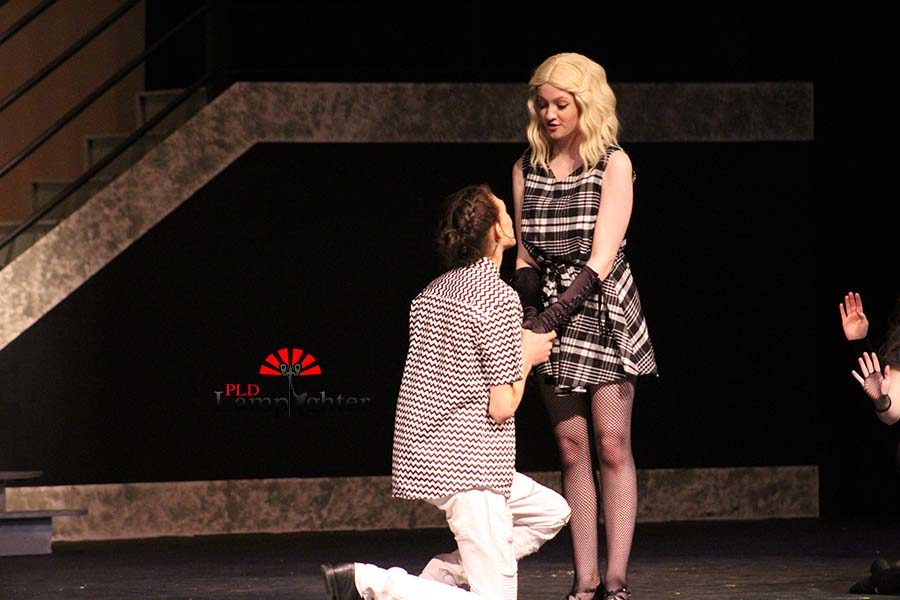 Johanna (Jamie Bradley) and Anthony (Dylan Beers) sing a romantic duet as they reunite.