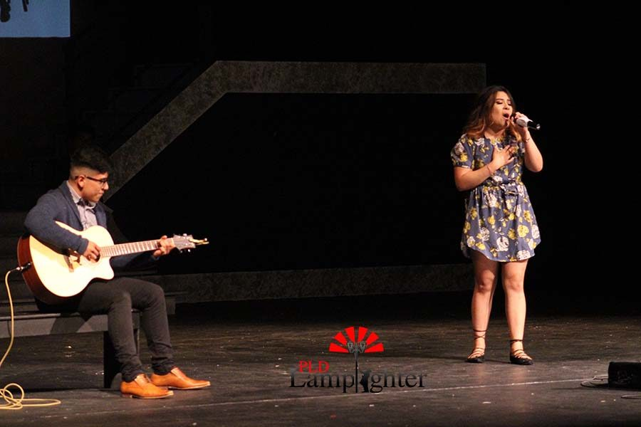 Litzy Najera and Frankiee Rodriguez  performing their duet