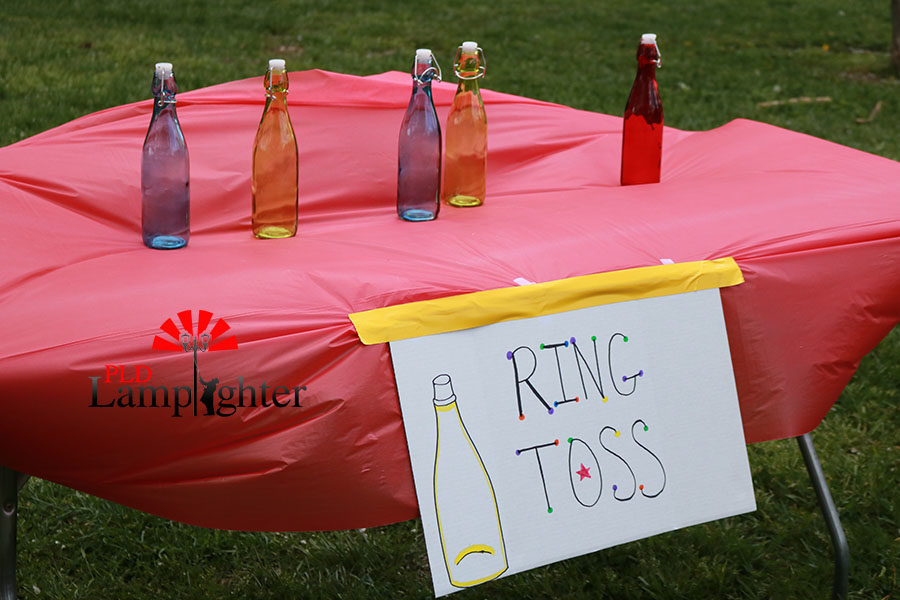 One of the games that were set up was a ring toss game.