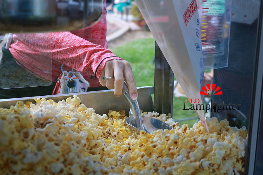 There was also movie-style popcorn available for anyone wanting a small snack.