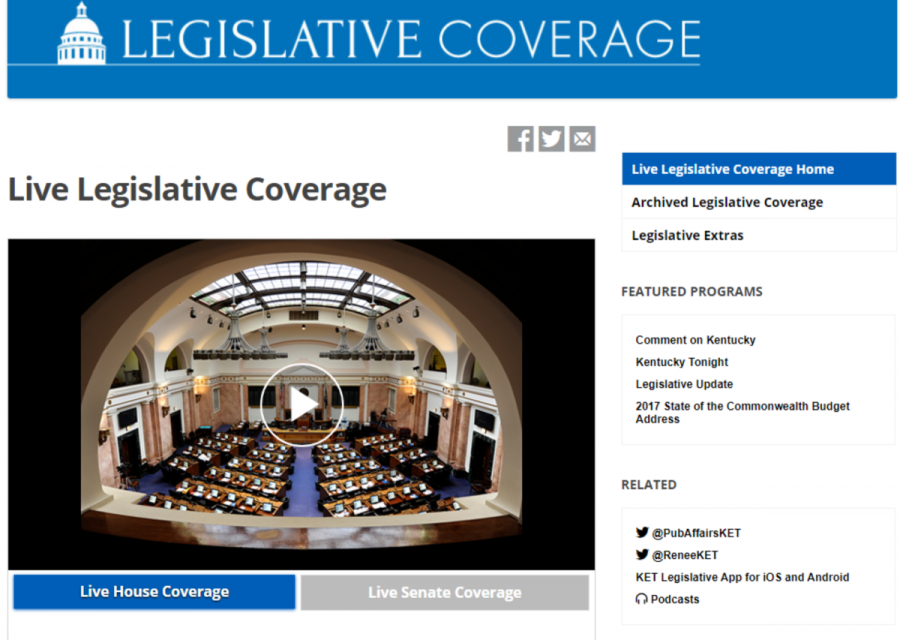 The Legislative Coverage webpage.