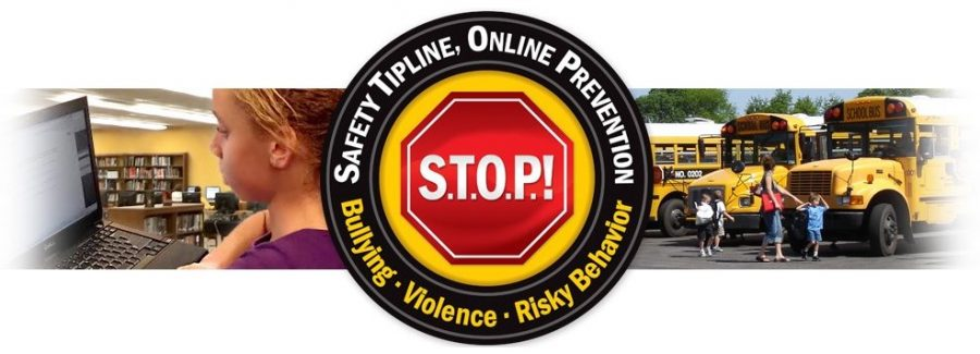 STOP Tipline Logo that can be found on the PLD and FCPS websites.