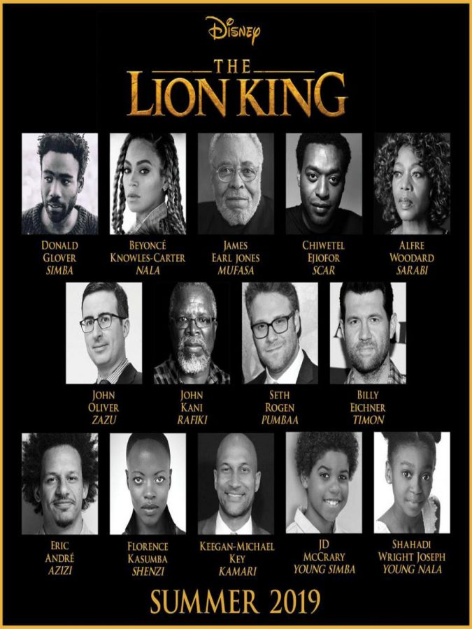 The cast of Lion King (2019).