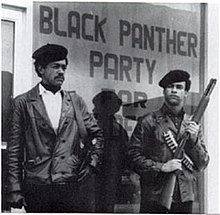 Bobby Seale and Huey P. Newton armed with a 1911 and shotgun