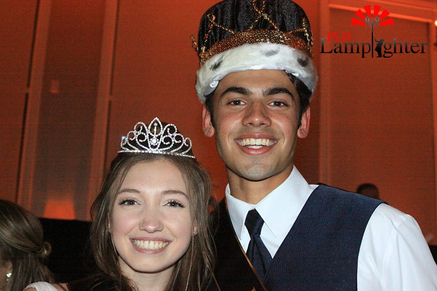 Taylor Colony and Adam Talwalker after being crowned prom king and queen.
