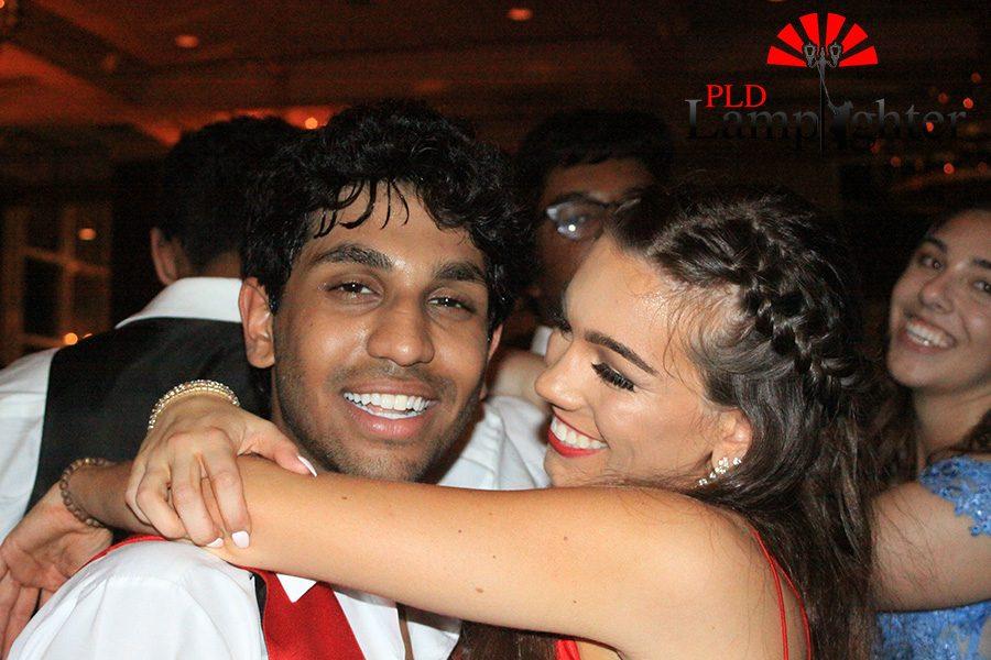 Jenna McCauley and her boyfriend Niraj Rama dance together.
