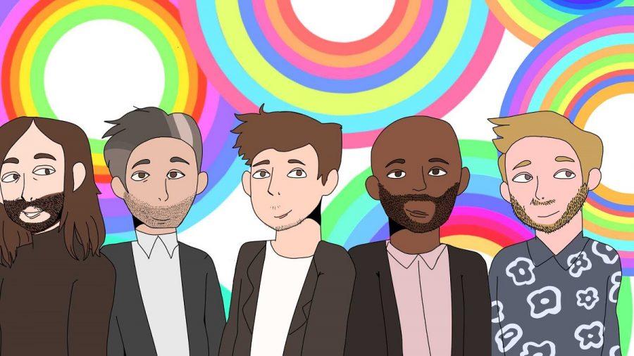 The Fab Five (l to r): Jonathan Van Ness, Tan France, Antoni Porowski, Karamo Brown, and Bobby Berk.