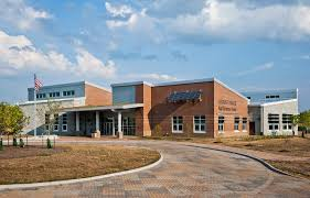 This is a picture of the front of the school Locust Trace Agriscience Center.