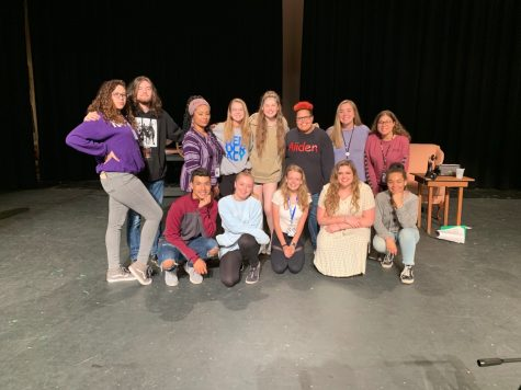 Lamplighter Staff Reporter Savanna Montgomery with her senior friends in the Drama Department.