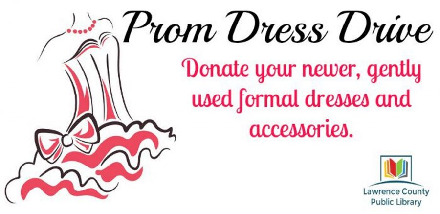 A prom dress drive poster.