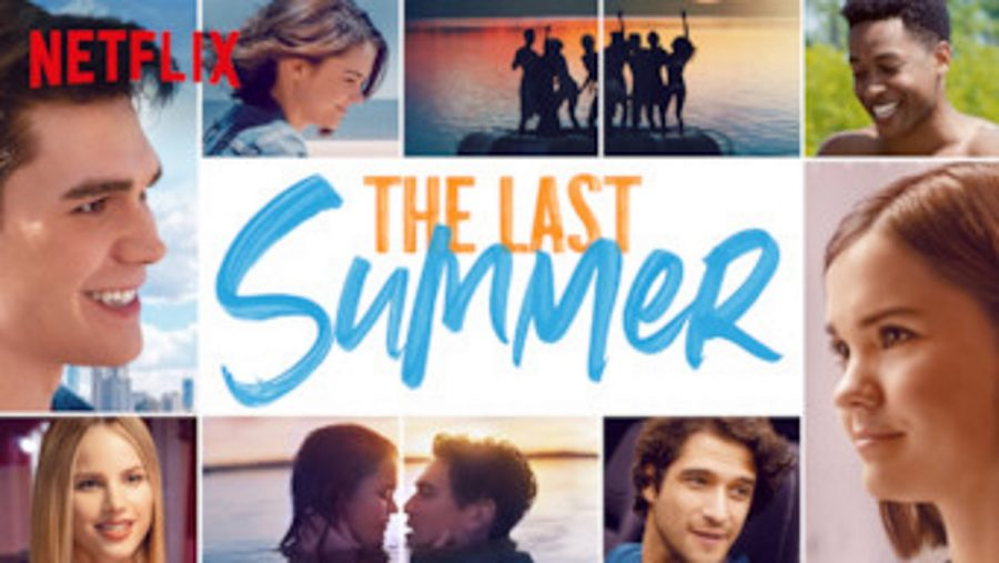 A collage of photos for a poster from Netflix's new movie The Last Summer.