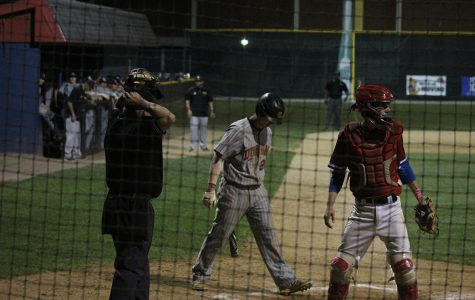 #27 Jared Gadd, steps up to the plate to bat.