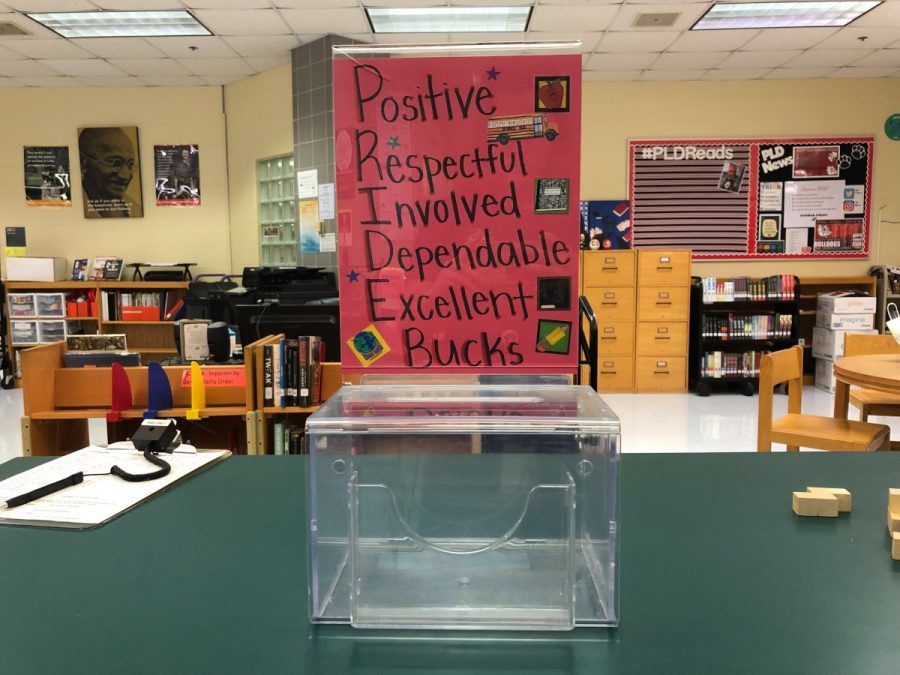 All students who earn PRIDE bucks can turn them in to the library.