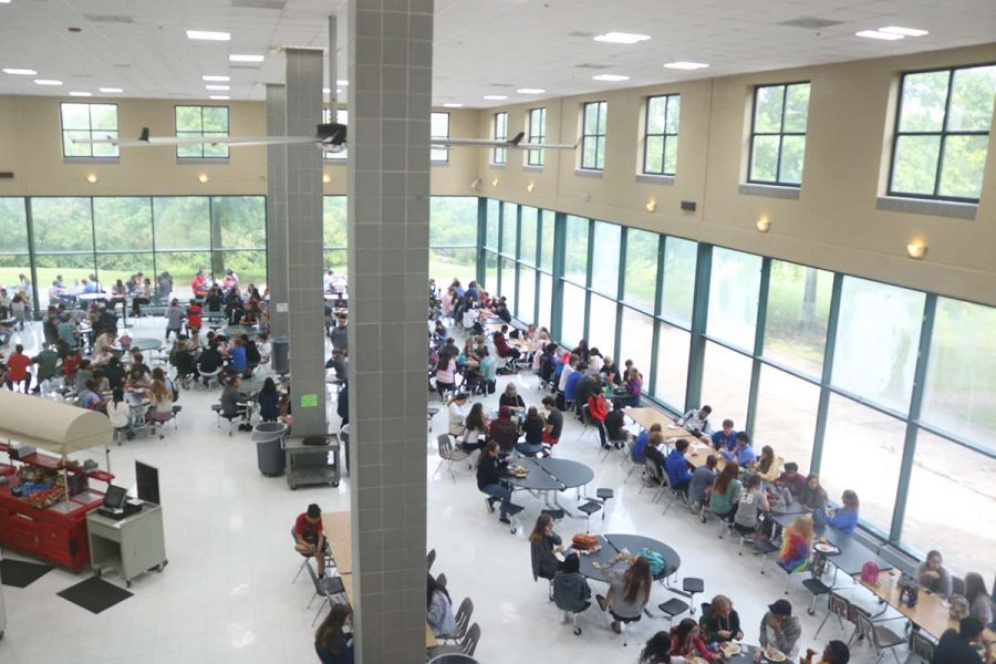 Dunbar's cafeteria received new tables over the summer