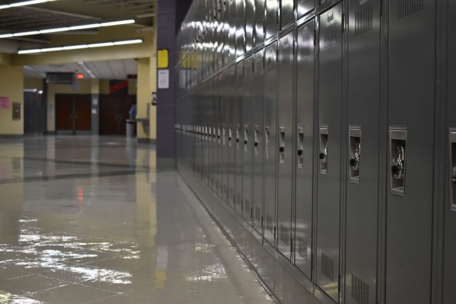 Statistics indicate that only 10% of the school's lockers have been purchased.