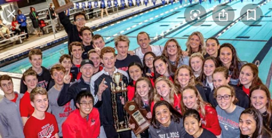 The 2018-2019 swim team.