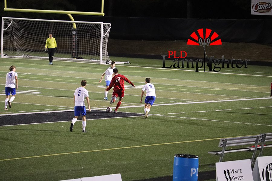 #17 Pablo Ortiz attempts a shot at the goal.