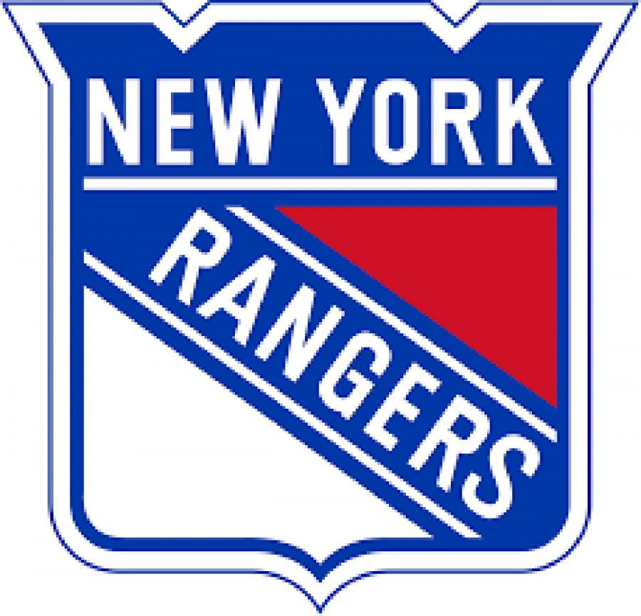 The logo fr the New York Rangers Professional hockey team