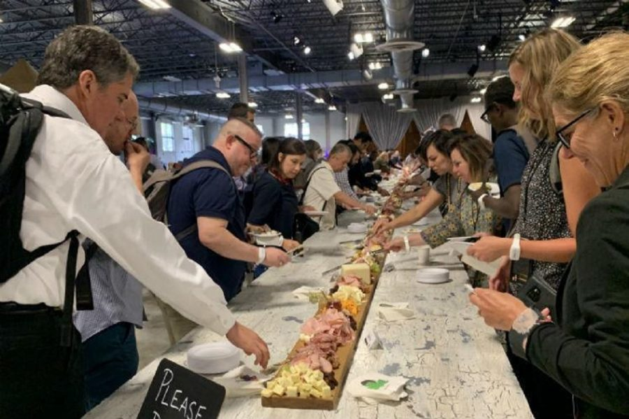 The+charcuterie+board+at+the+Foodscape+conference+in+Chicago.
