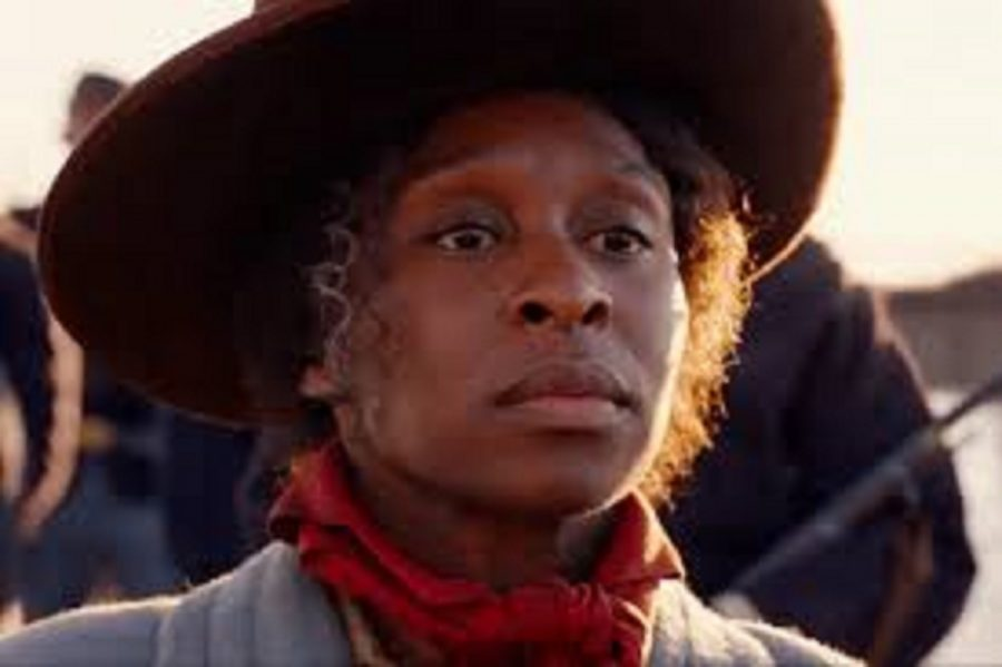Harriet Tubman played by Cynthia Erivo is seen here from a scene in the trailer.