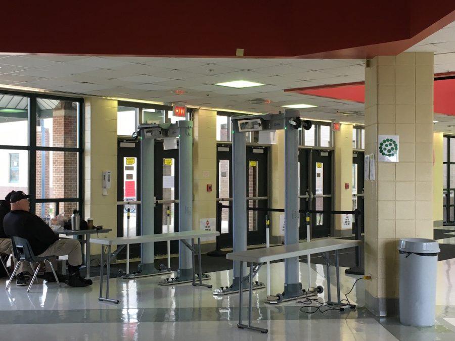 Dunbar's metal detectors are a fixture of the school's entryway.
